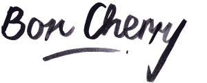 Logo in brush script saying Bon Cherry