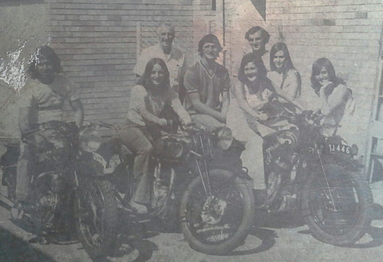 My mom is the hot biker chick, second from the right.